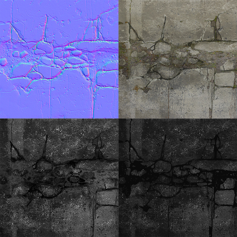 Philipk net cracked stone tutorial for Floor normal map